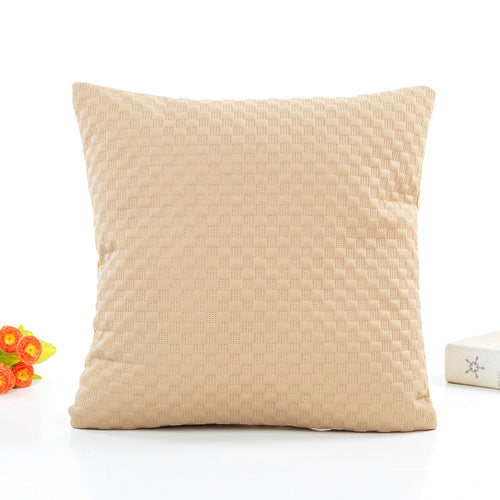 Quilted Squares Cushion Cover (9 colours)