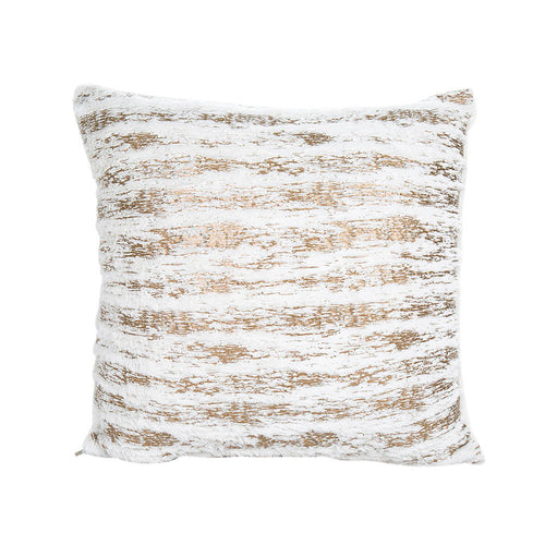 Plush Fluffy Gold or Silver Cushion Cover
