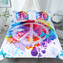 Peace and Love Watercolour Splash Bedding Set