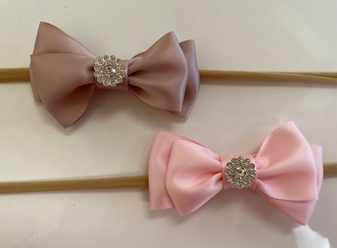 Princess Bows: light brown and Pink