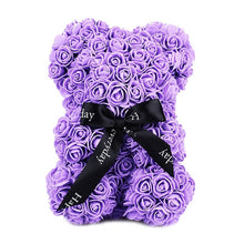 Load image into Gallery viewer, 23Cm Foam Bear Of Roses Bear Rose Flower Artificial New Year Gifts For Women Valentines Gift