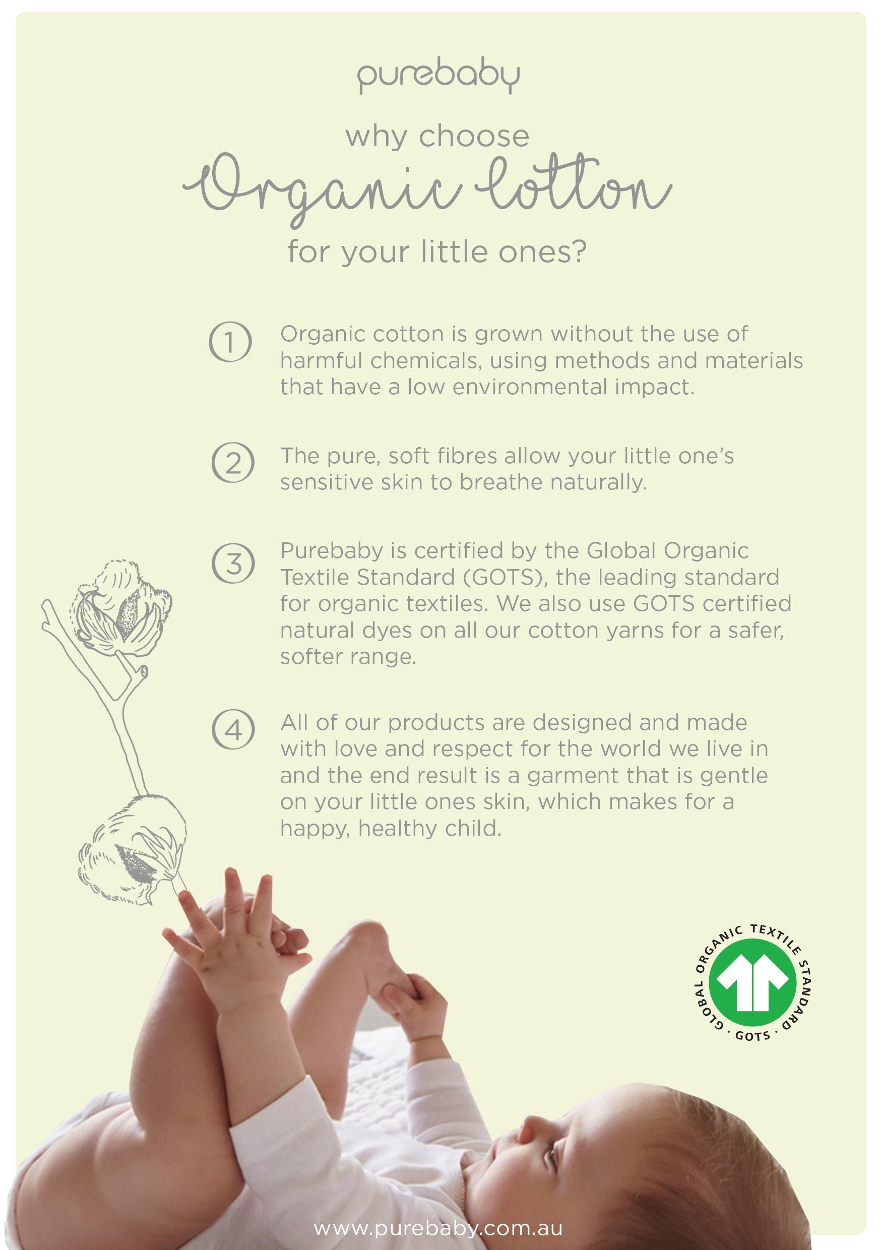 Purebaby Why Choose Organic Cotton
