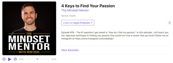 rob dial the mindset mentor 4 keys to find your passion