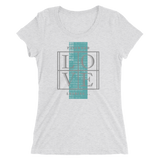 Password Love - Printed Triblend T-Shirt for Women