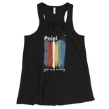 Paint Your Reality - Printed Racerback Tank Top for Women