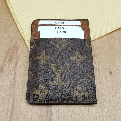 Louis Vuitton Card holder, LV cardholder, handmade, LVfashion, leather wallet, business card, mini wallet, business, upcycled, wallet, lv monogram, Lv