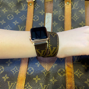 Handmade Louis Vuitton Authentic Apple watch band Series 6-5-4-3-2-1