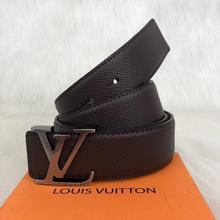 Load image into Gallery viewer, Louis Vuitton İnitiales Taiga Leather Belt