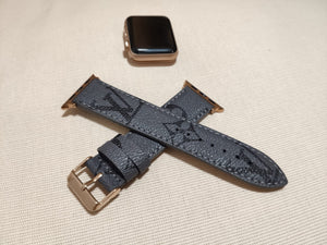 Handmade Louis Vuitton, Apple watch band Series 6-5-4-3-2-1