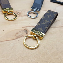 Load image into Gallery viewer, Louis Vuitton key chain, Louis Vuitton Bag Ornament, Bag Accessory Leather Key chain, Gift Key chain