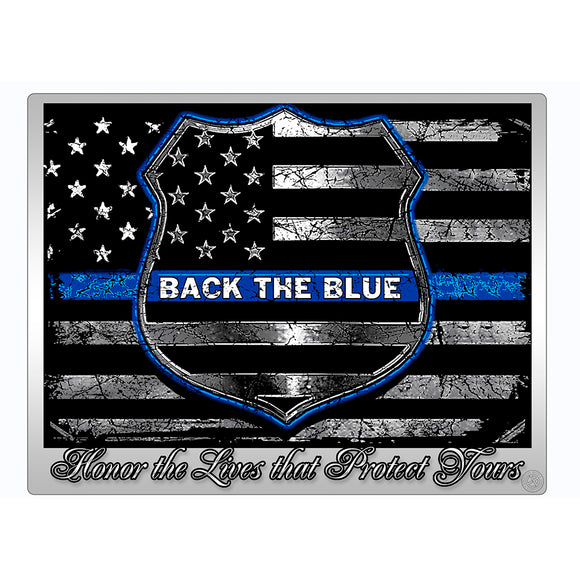THF2293 - Vinyl Decal for Police - Honor The Lives That Protect Yours Sticker
