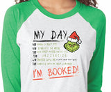 Grinch inspired Christmas shirt - Adult Small to Adult 3XL - Green Sleeves