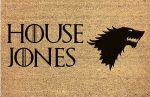 House Stark Doormat - Game of Thrones Inspired Sigil