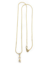 "Load image into Gallery viewer, 10K Yellow Gold 3 Diamond pendant with 16"" yellow gold wheat chain with lobster clasp"