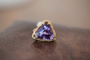Amethyst & Yellow Gold Ring