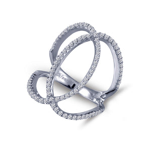 Open Silver & CZ Ring