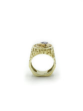 Load image into Gallery viewer, 14K Yellow Gold and Sapphire Ring