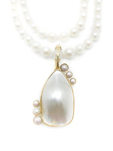 Load image into Gallery viewer, Yellow Gold Baroque Primary Pearl 6 Round Pearl Accents Freshwater Cultured Pearls