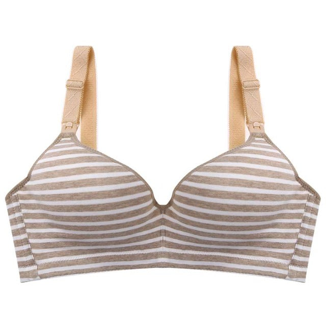 Pregnant Women Nursing Bras Striped Pregnant Underwear Maternity Breastfeeding Bras Pregnancy Breast Feeding Underwear Clothing