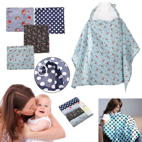 New Cotton Breastfeeding Cover Blanket Flower Fruit Print Baby Mum Breast Feeding Blanket Nursing Cover Up Shawl 950 x 550mm