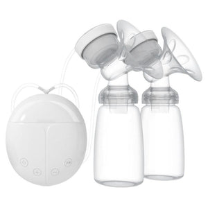 Large Suction Dual USB Electric Breast Pumps Automatic Massage Powerful Nipple Suction Breast Pump baby bottle Feeding