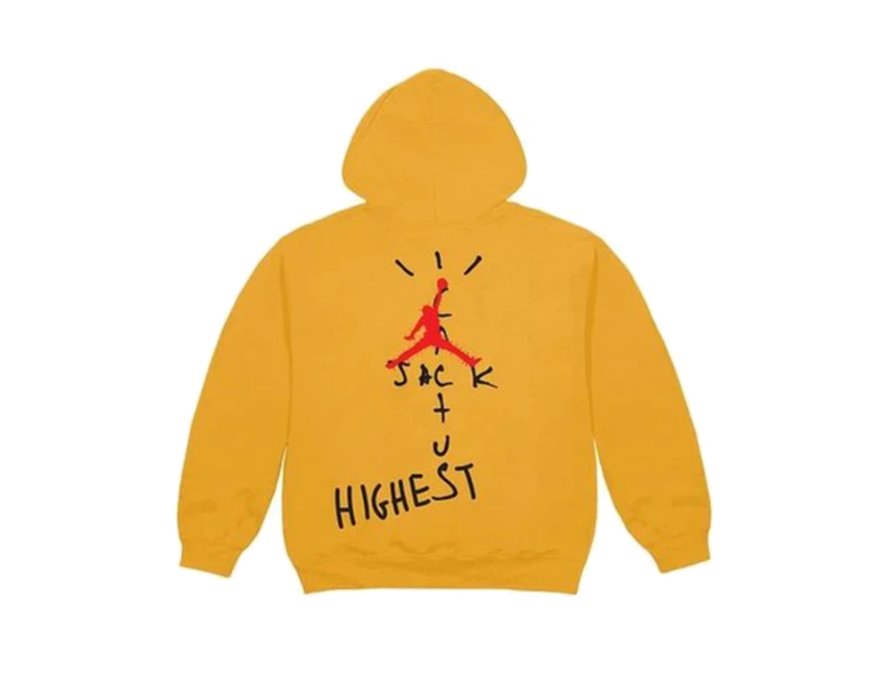 NIKE x TRAVIS SCOTT HOODIE GITD YELLOW