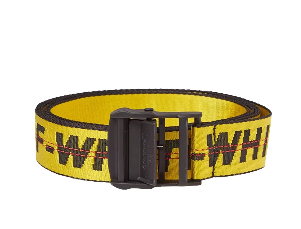 OFFWHITE YELLOW INDUSTRIAL BELT BLACK BUCKLE 2M