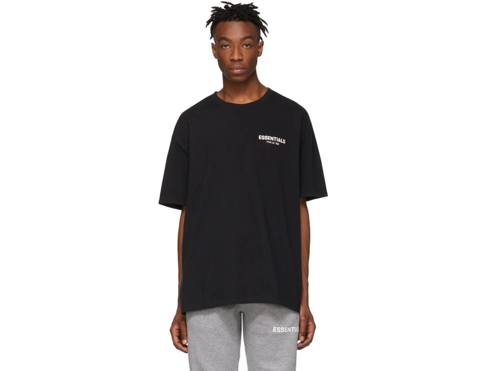 FOG ESSENTIALS LOGO TEE BLACK