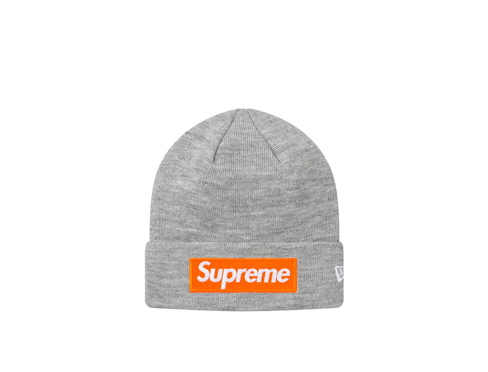 SUPREME NEW ERA BOX LOGO BEANIE (FW17) GREY