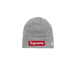 SUPREME NEW ERA BOX LOGO BEANIE (FW18) GREY
