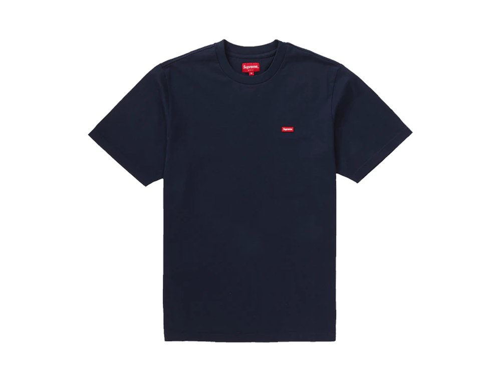 SUPREME SMALL BOX LOGO TEE NAVY