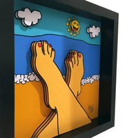 Beach Relaxation 3D Art