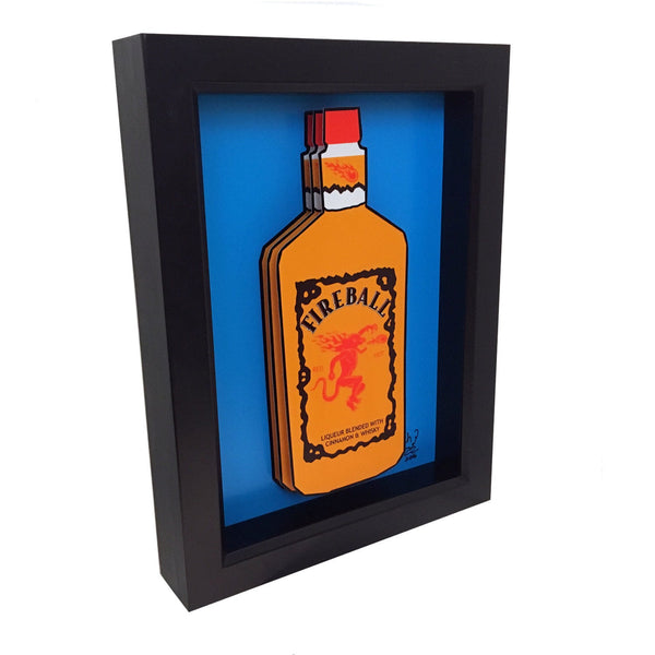 Fireball Whiskey 3D Art
