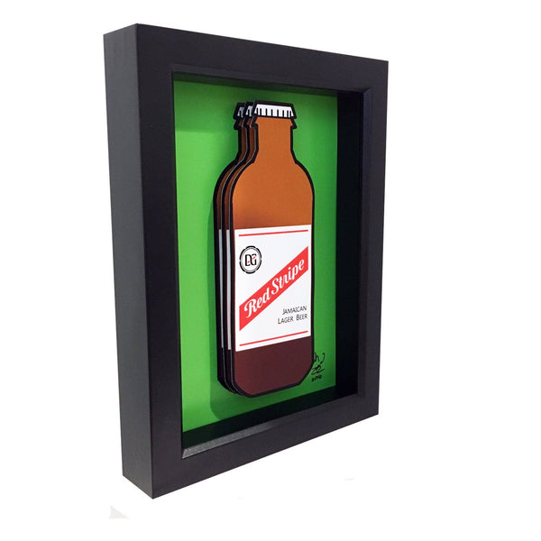 Red Stripe Beer 3D Art