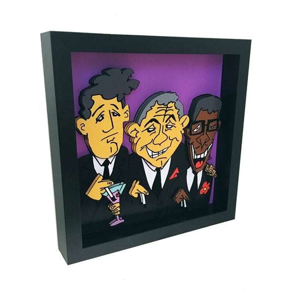 Rat Pack 3D Art