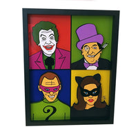 Batman 1966 Villians 3D Art