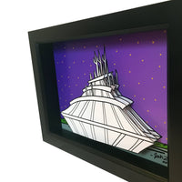 Space Mountain 3D Art