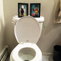 Freddy and Jason Bathroom Decor 3D Art