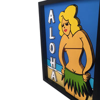 Hula Girl 3D Art