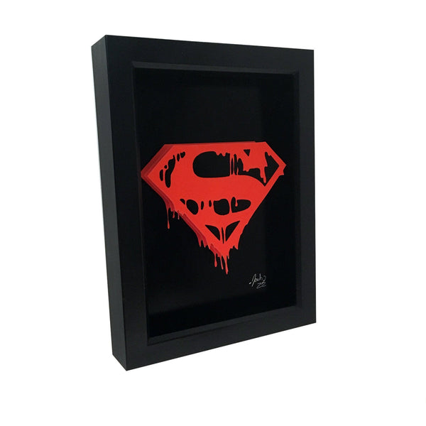 Superman Doomsday Logo 3D Art