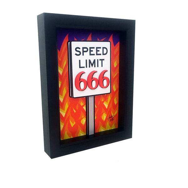 Speed Limit 666 3D Art