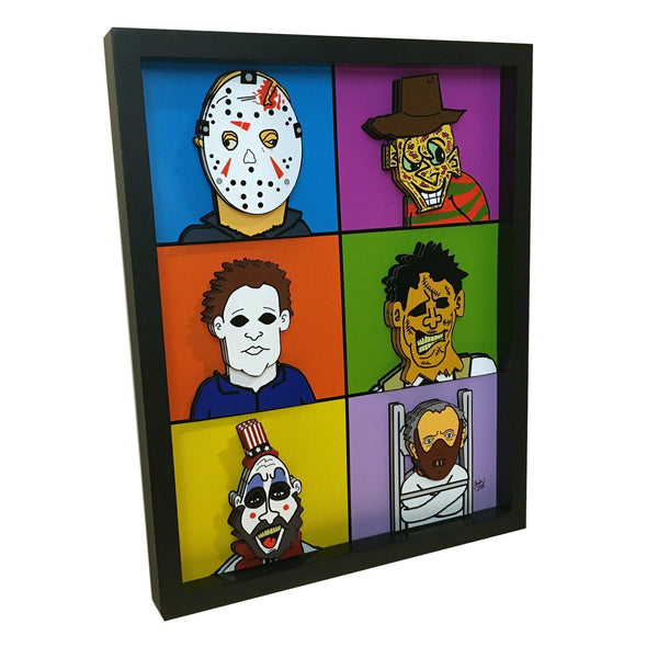 Horror Icons 3D Art
