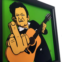 Johnny Cash 3D Art