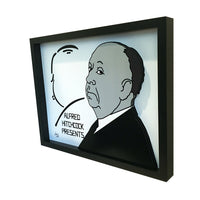 "Alfred Hitchcock Presents 3D Art (11x14"" version)"