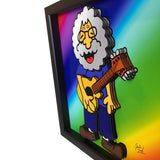 "Jerry Garcia 12x12"" 3D Art"