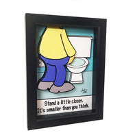 Stand Closer Bathroom 3D Art