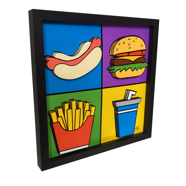 Cartoon Kitchen Decor 3D Art