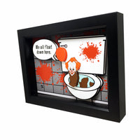 Pennywise Bathroom Decor 3D Art