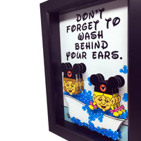 Disney Bathroom Decor 3D Art