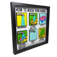 How To Wash Your Hands 3D Art